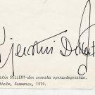 Opera Swedish Soprano KJERSTIN DELLERT Orig Autograph from 1979