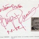 Opera Swedish Bass BENGT RUNDGREN Orig Autograph from 1982