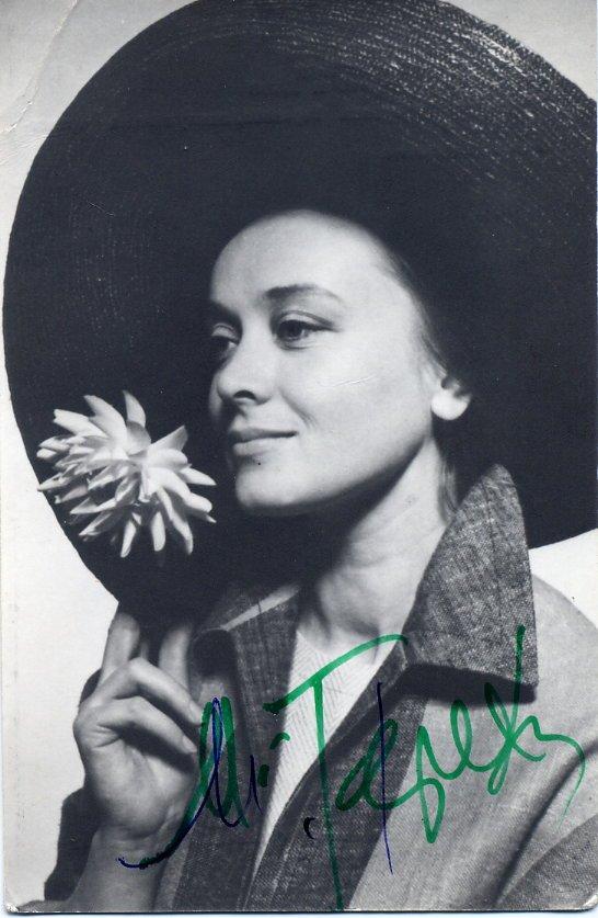 Tarkovsky Mirror Starring Actress MARGARITA TEREKHOVA Hand Signed Photo Card from 1981 RARE!