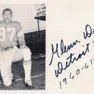 (R) 1956-60 Olympics T&F Gold & Detroit Lions GLENN DAVIS Signed Photo Card 1980s