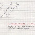 (R) 1988 Seoul T&F 1500m Silver LAIMUTE BAIKAUSKAITE Orig Autograph 1980s