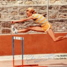 1984 T&F 100m Hurdles Bronze MICHELE CHARDONNET Hand Signed Photo 1980s