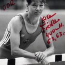 1988 Seoul T&F 400m Hurdles Bronze ELLEN FIEDLER Hand Signed Photo 1980s