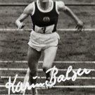 1964 T&F 80m Hurdles Gold & WR KARIN BALZER Hand Signed Photo Card 4x6
