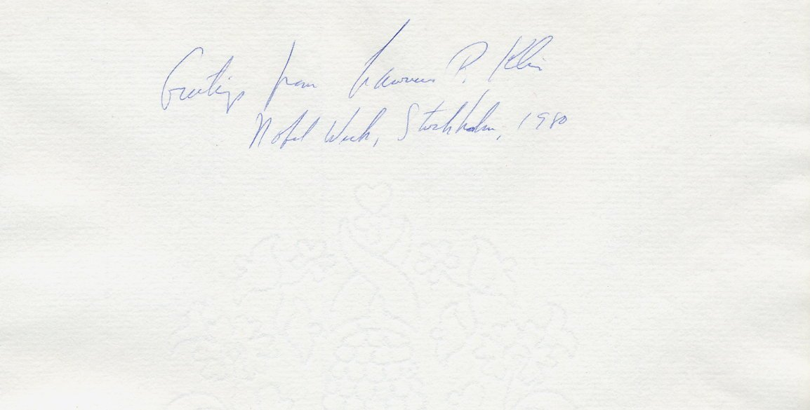 1980 Nobel Prize in Economics LAWRENCE R KLEIN Orig Autograph from 1980!