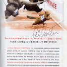 1956-68 Olympics T&F Discus 4x Gold AL OERTER Hand Signed Program Page '03