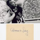 1964 Olympics T&F Shot Put Gold & WR DALLAS LONG Orig Autograph 1980s