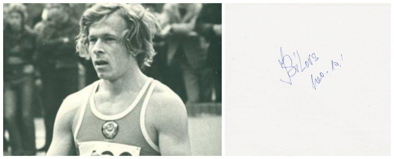 1972-76 Olympics T&F 4x100m Medalist JURIS SILOVS Orig Autograph 1980s