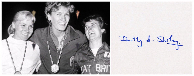 1960 Rome Olympics T&F High Jump Silver DOROTHY SHIRLEY Orig Autograph 1980s