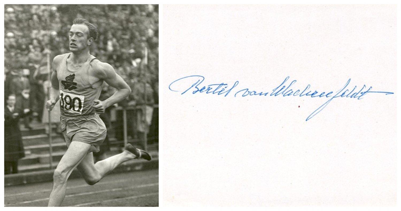 1928 & 1936 T&F Olympian BERTIL von WACHENFELDT Orig Autograph 1980s