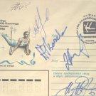 1980 Moscow Olympics Soviet Gymnastics Team Orig Autographs (5) from 1980