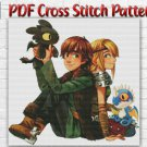 Counted Cross Stitch Pattern How To Train Your Dragon Astrid Viking Light Fury