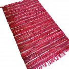 Leather Rug for Fireplace Fireproof Carpet SHINY RED Hearth Fire Resistant Mat Rug