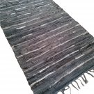 Leather Rug for Fireplace Fireproof Carpet SHINY GRAY Hearth Fire Resistant Mat Rug