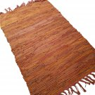 Leather Rug for Fireplace Fireproof Carpet ORANGE Hearth Fire Resistant Mat Rug