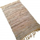 Leather Rug for Fireplace Fireproof Carpet BEIGE GOLD Hearth Fire Resistant Mat Rug