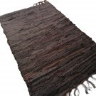 Leather Rug for Fireplace Fireproof Carpet BROWN Hearth Fire Resistant Mat Rug