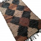 Leather Rug for Fireplace Fireproof Carpet DIAMONDS Hearth Fire Resistant Mat