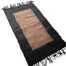 Leather Rug for Fireplace Fireproof Carpet RECTANGLE Hearth Fire Resistant Mat