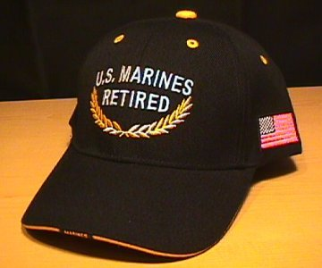 MARINE RETIRED CAP #2 BLACK