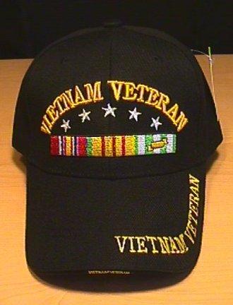 VIETNAM VETERAN CAP W/RIBBON AND 5 STARS