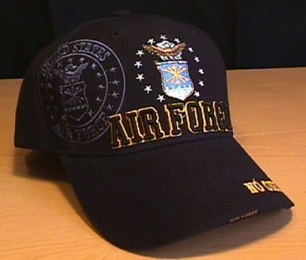 AIR FORCE 3D TEXT SHADOW CAP - BLACK