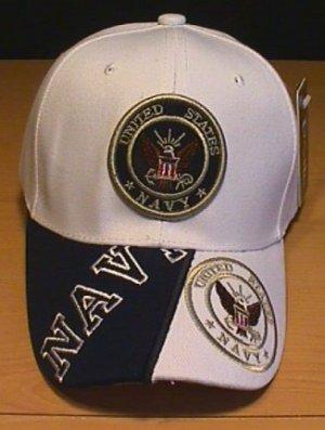 NAVY DOUBLE LOGO CAP W/ 2-TONE BILL #1