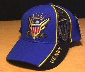 NAVY WEDGE CAP - ROYAL