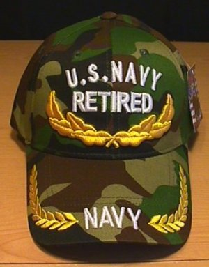 NAVY RETIRED CAP W/SCRAMBLED EGGS - WOODLAND