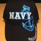 NAVY BLUE ANCHOR SHADOW CAP