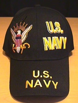 NAVY SPLIT FRONT CAP - BLACK