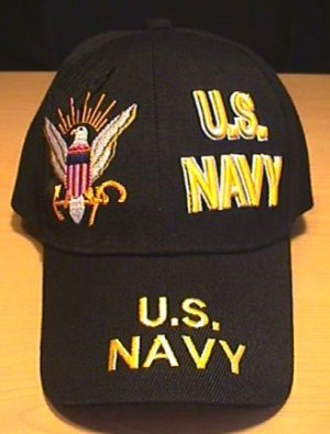 NAVY SPLIT FRONT CAP - BLACK