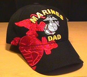 MARINE DAD RED SHADOW CAP - BLACK