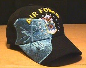 AIR FORCE BLUE SHADOW CAP - BLACK