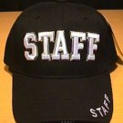 STAFF CAP W/3D EMBROIDERED TEXT