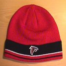 ATLANTA FALCONS BEANIE - RED W/ BLACK STRIPE