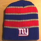 NEW YORK GIANTS BEANIE - LARGE STRIPES