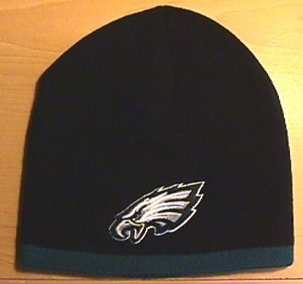 PHILADELPHIA EAGLES BEANIE W/GREEN EDGE