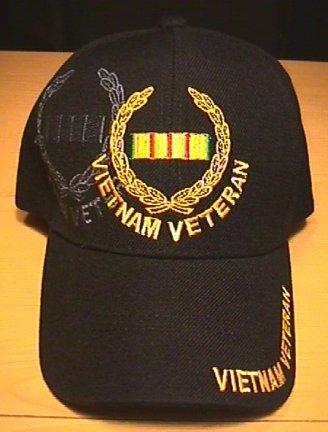 VIETNAM VETERAN CAP WITH WREATH LOGO