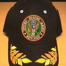 ARMY RETIRED CAP W/CAESAR ACCENTS - BLACK