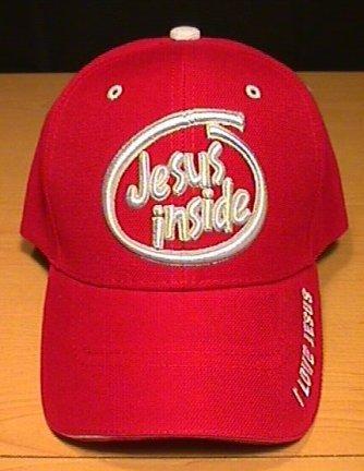 JESUS INSIDE CAP - RED