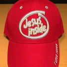 JESUS INSIDE CAP - RED