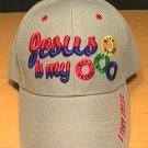 JESUS IS MY LIFESAVER CAP - GRAY