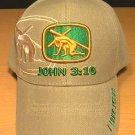 JOHN 3:16 CHRISTIAN CAP - TAN