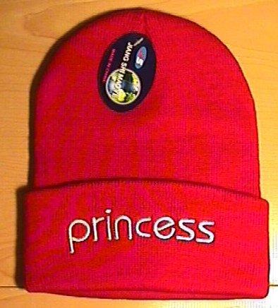 PRINCESS WINTER KNIT CAP - RED