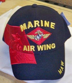 MARINE AIR WING RED SHADOW CAP - BLACK