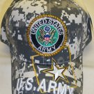 ARMY CIRCLE LOGO WITH STAR LOGO ON BILL - CAMO
