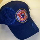COAST GUARD WITH CIRCLE LOGO AND BLUE SHADOW EMBROIDERY - NAVY