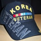 KOREAN VETERAN HAT W/GREY SHADOW EMBROIDERY - BLACK