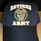 RETIRED ARMY HAT W/CIRCLE LOGO - BLACK